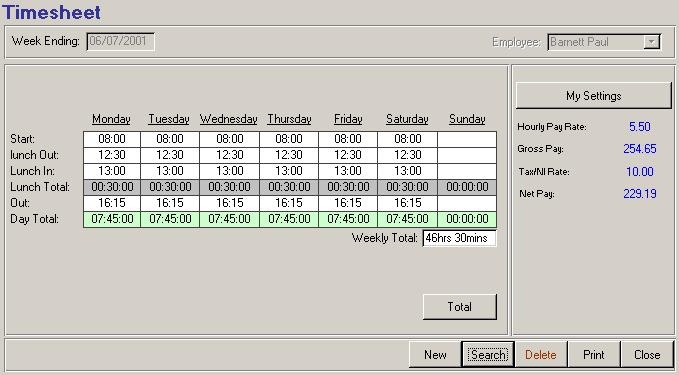Human Resources Timesheet Monitoring 2